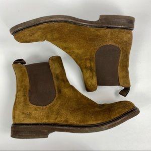 Frye | Men's Sam Chelsea Brown Suede Boots